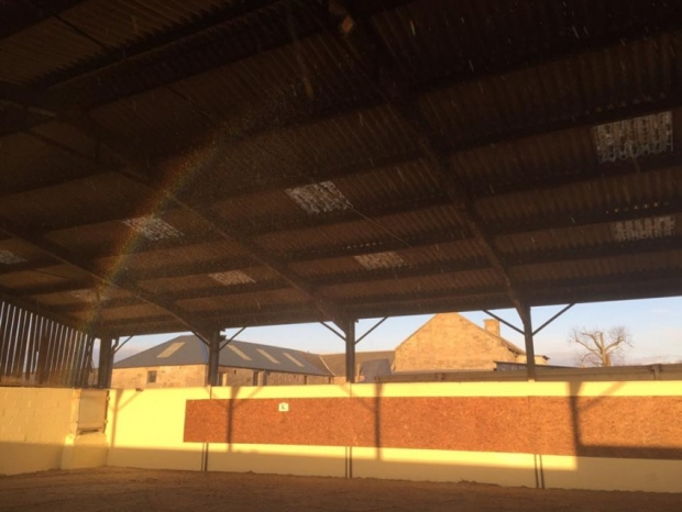 Our own rainbow in the indoor school